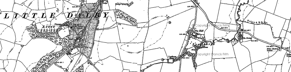 Old map of Whissendine Lodge in 1902
