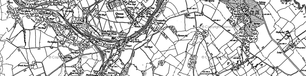 Old map of Leeswood in 1898