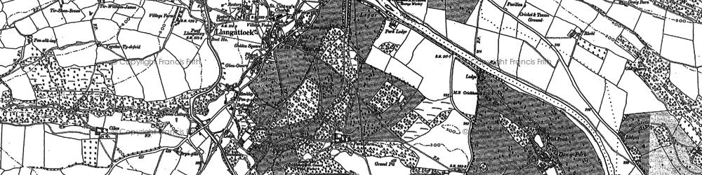 Old map of Agen Allwedd in 1879