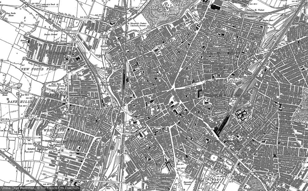Map of Leicester, 1885 - 1886