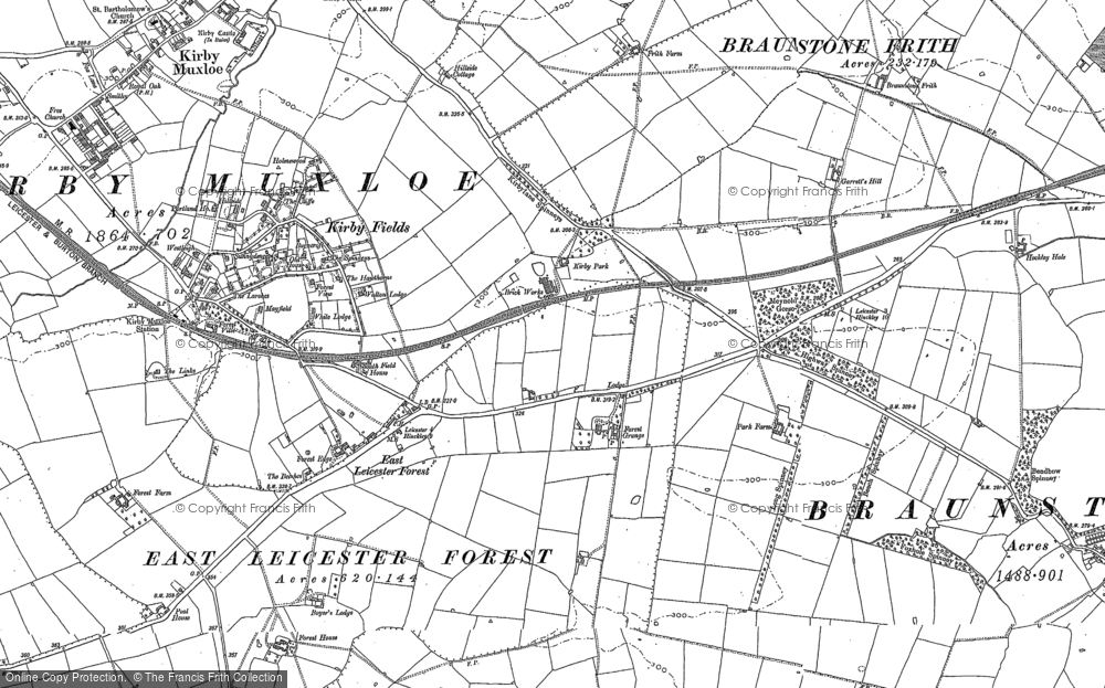 Old Map of Leicester Forest East, 1885 - 1886 in 1885