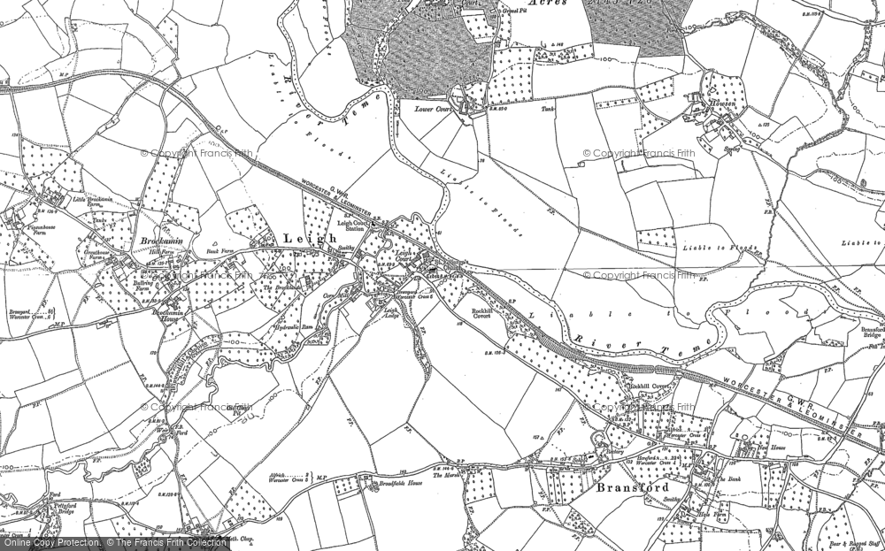 Old Map of Leigh, 1884 in 1884
