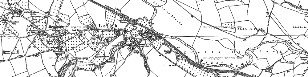 Old map of Tithe Barn in 1884