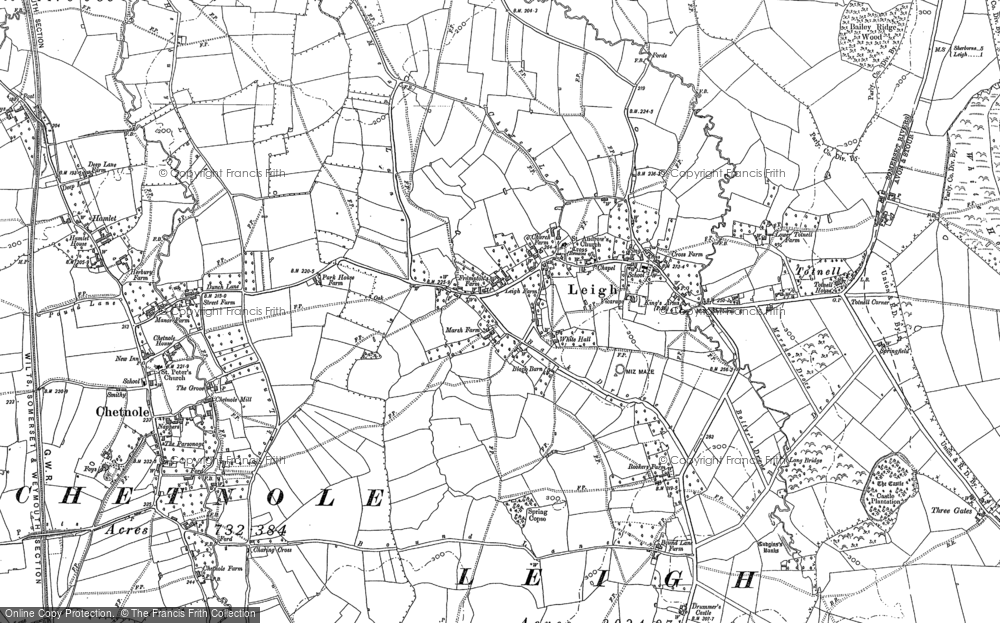 Map of Leigh, 1886 - 1901