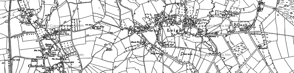 Old map of Leigh in 1886