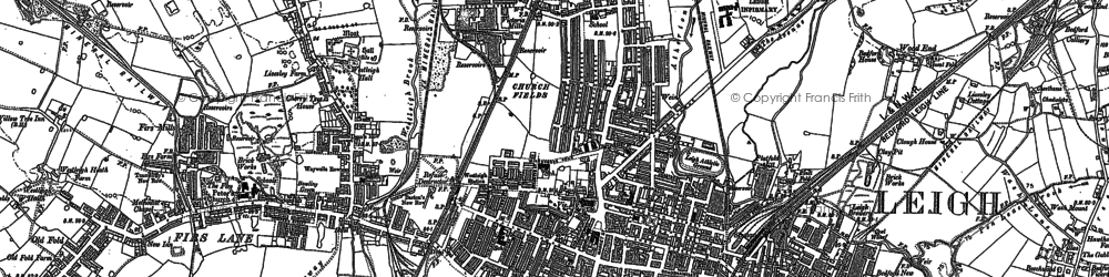 Old map of Atherton Hall in 1892