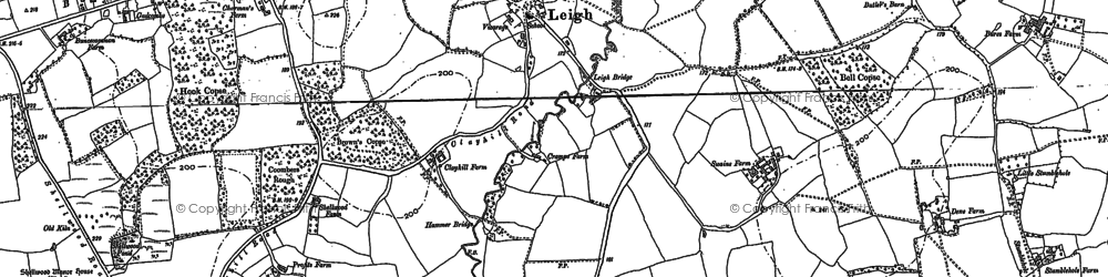 Old map of Leigh Place in 1895