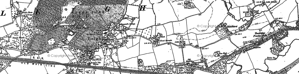 Old map of Barden Park in 1895