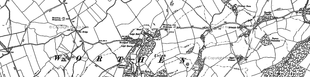 Old map of Whitsburn Hill in 1901