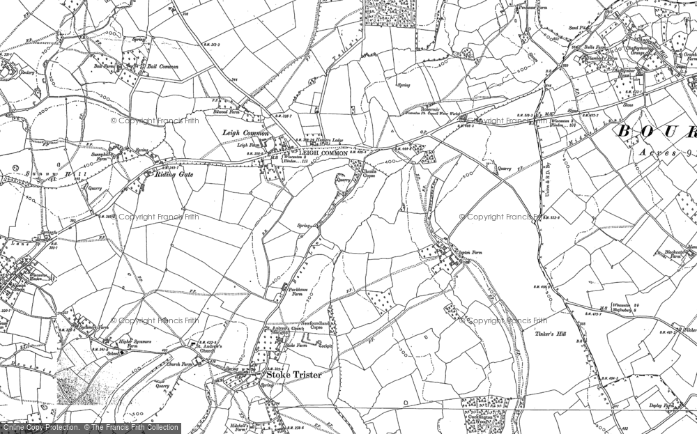 Old Map of Leigh Common, 1885 - 1902 in 1885