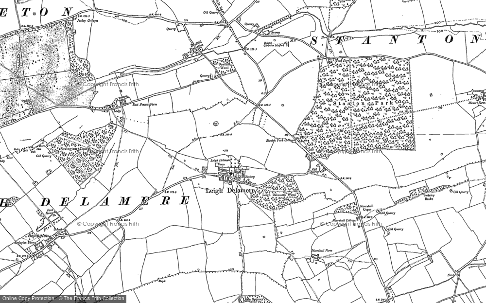 Old Map of Leigh Delamere, 1899 - 1919 in 1899
