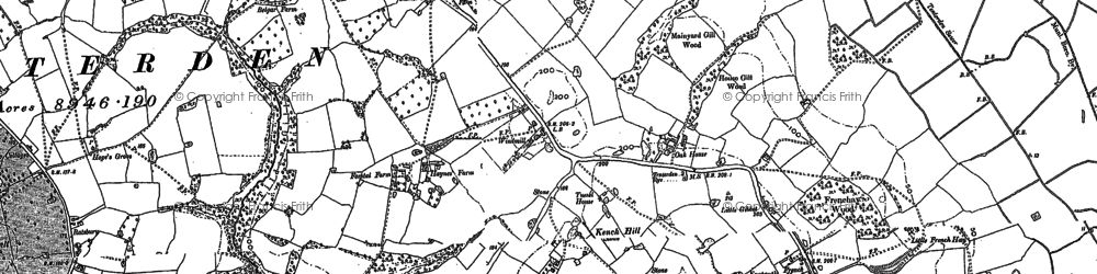 Old map of Leigh Green in 1895
