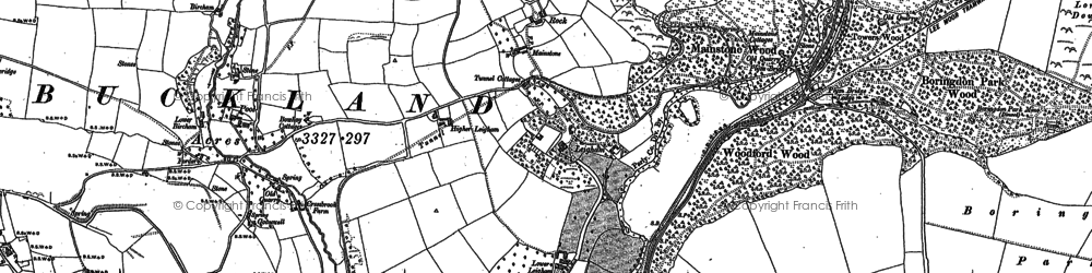 Old map of Plym Bridge in 1884