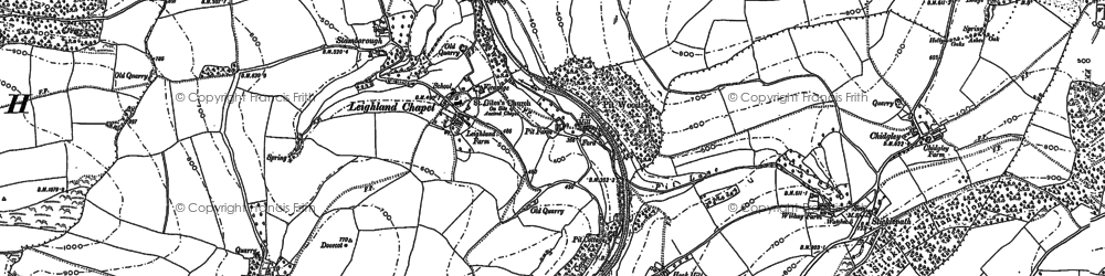 Old map of Leighland Chapel in 1887