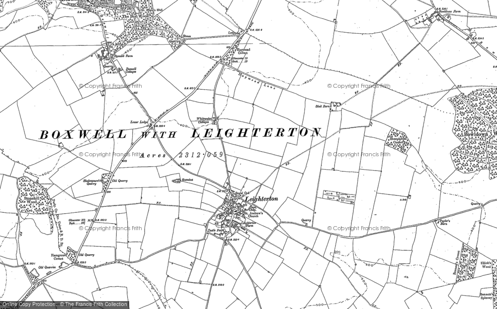 Old Map of Leighterton, 1899 - 1901 in 1899
