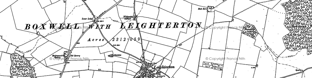 Old map of Leighterton in 1899