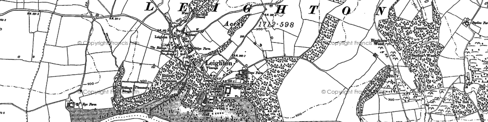 Old map of Leighton in 1882