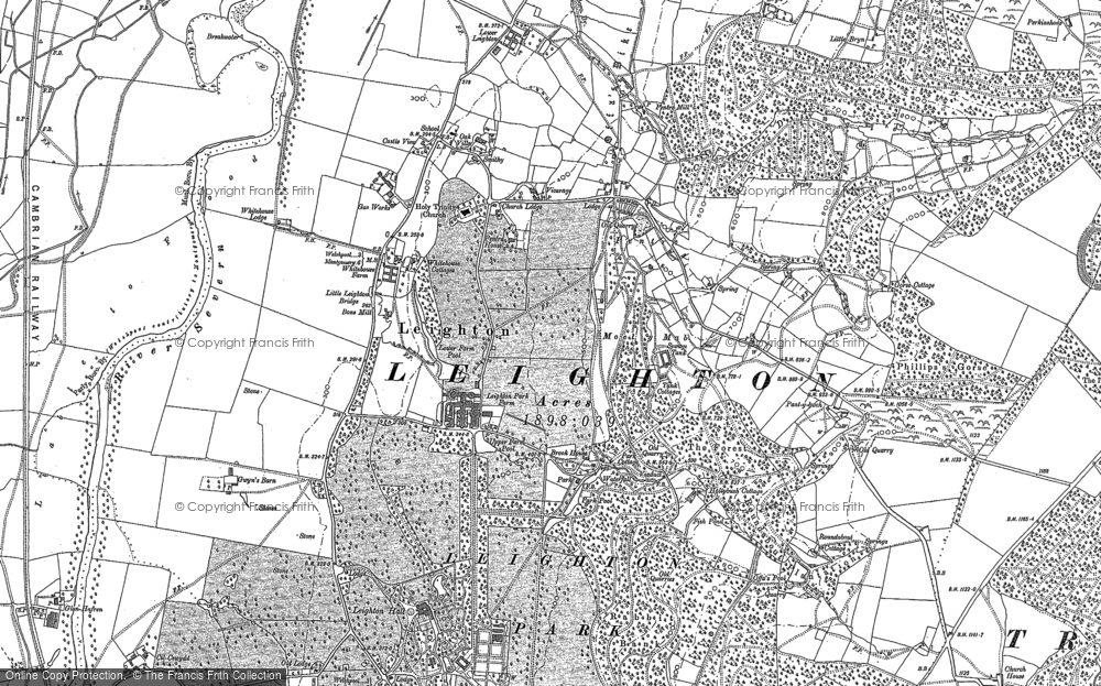 Old Map of Leighton, 1884 - 1901 in 1884