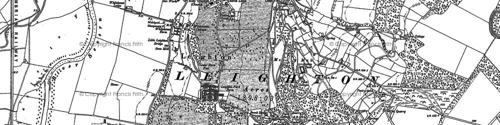 Old map of White Ho, The in 1884