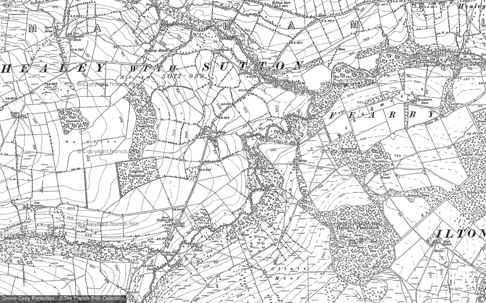 Old Map of Historic Map covering Leighton Resr in 1890
