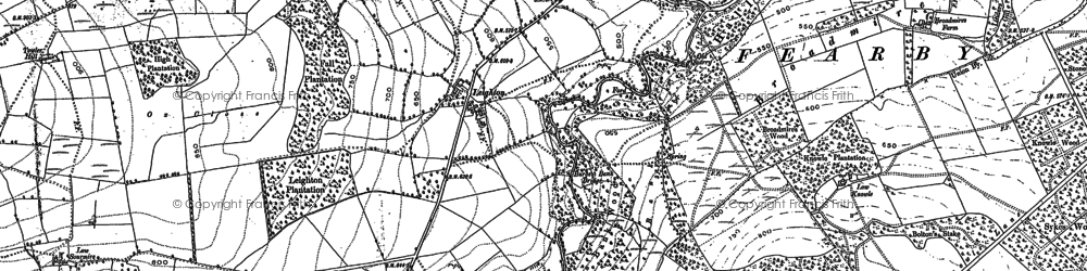 Old map of Leighton Resr in 1890