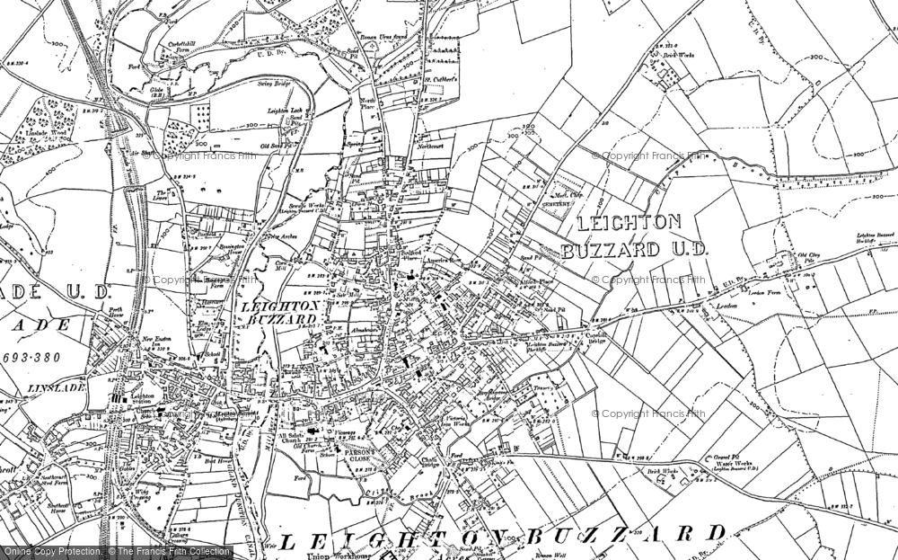 Leighton Buzzard Map Map of Leighton Buzzard, 1900   Francis Frith