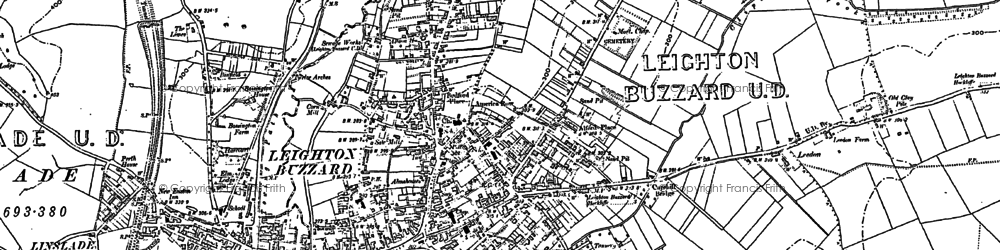 Old map of Leighton Buzzard in 1900