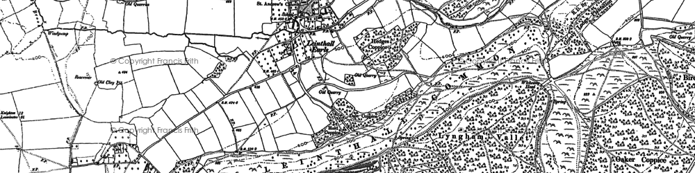 Old map of Leinthall Common in 1884
