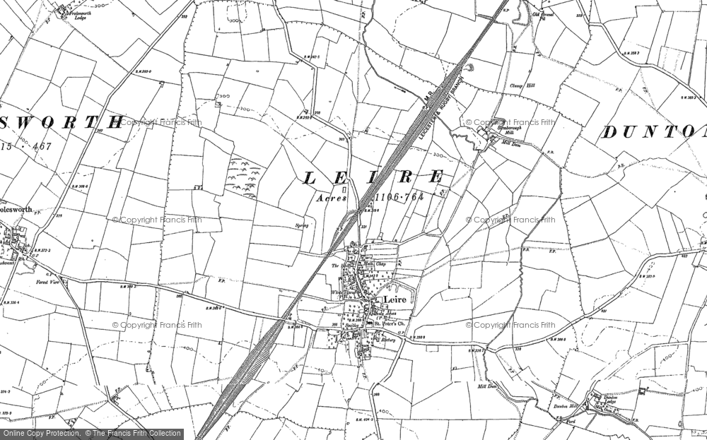 Old Map of Leire, 1901 in 1901