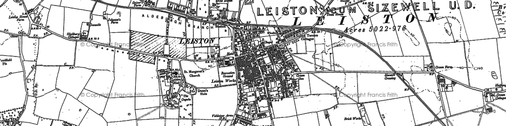 Old map of Leiston in 1882
