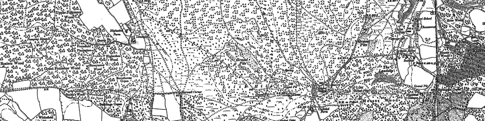 Old map of Leith Hill Place in 1895