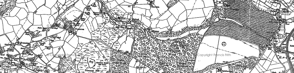 Old map of Ninnes Bridge in 1877
