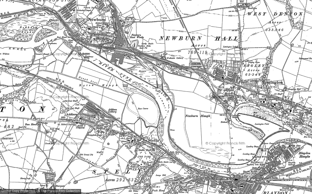 Old Map of Lemington, 1895 in 1895