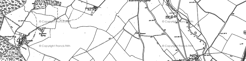 Old map of Lemsford in 1897