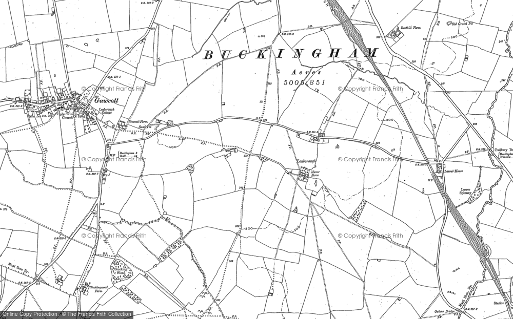 Old Map of Lenborough, 1898 - 1938 in 1898