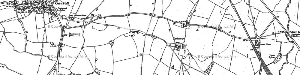 Old map of Lenborough in 1898