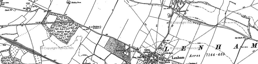 Old map of Lenham in 1896