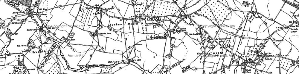 Old map of Lenham Forstal in 1896