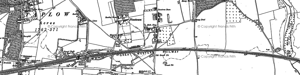 Old map of Lent Rise in 1910
