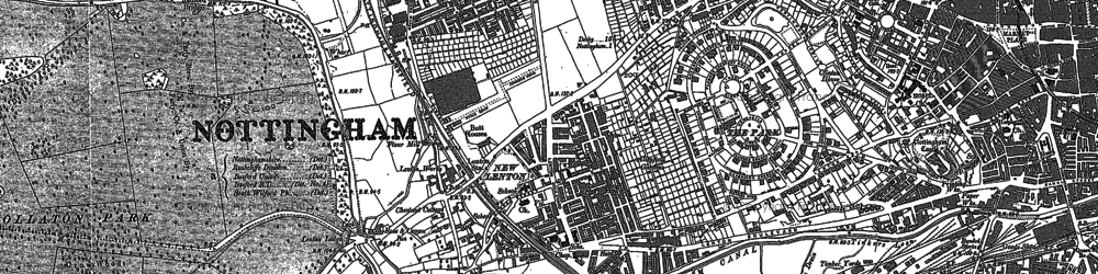 Old map of Lenton in 1881