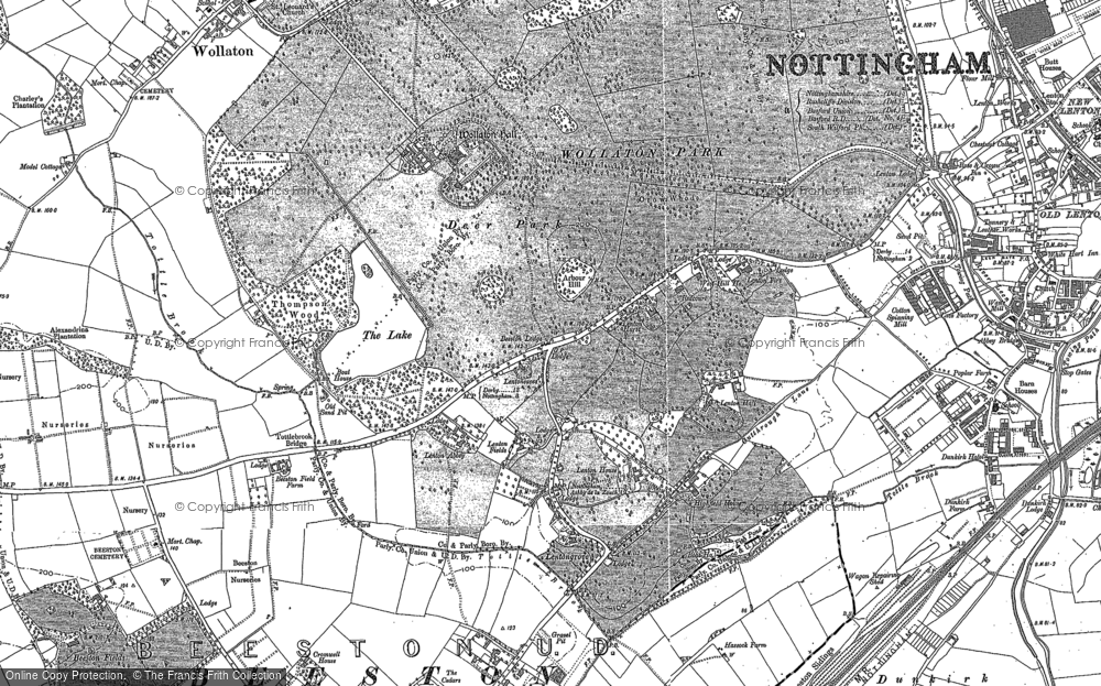 Old Map of Lenton Abbey, 1881 - 1899 in 1881
