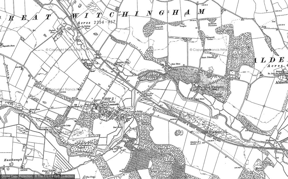 Map of Lenwade, 1882