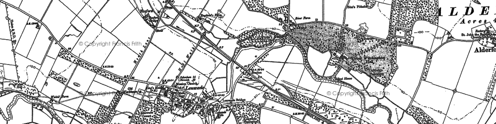 Old map of Lenwade in 1882