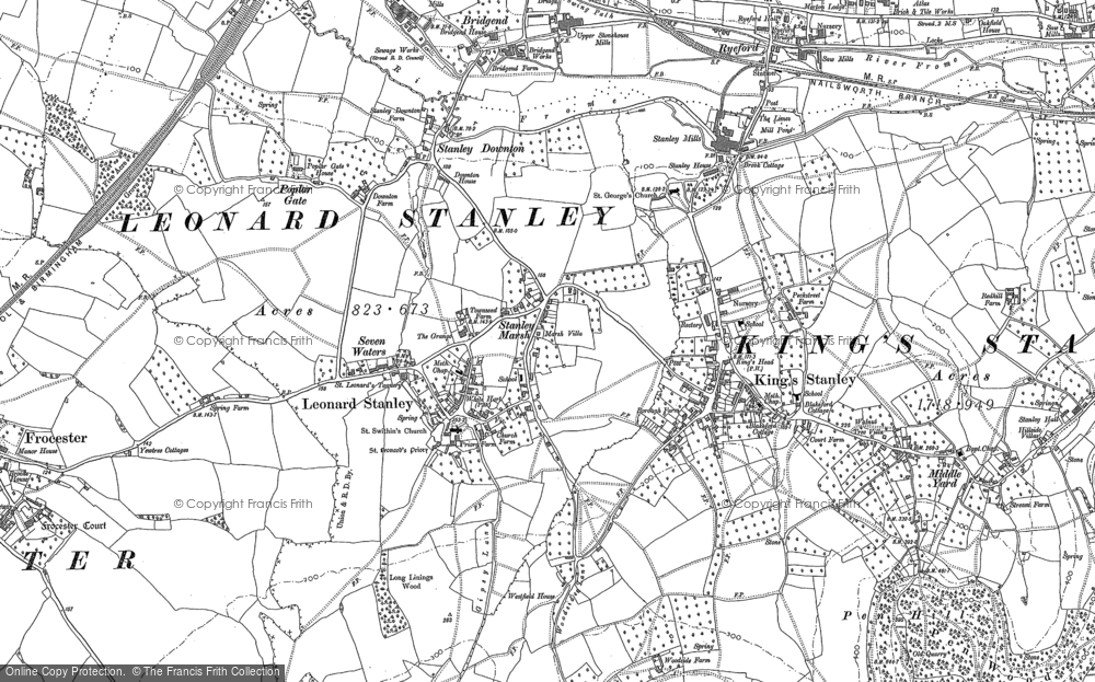 Old Map of Leonard Stanley, 1882 in 1882