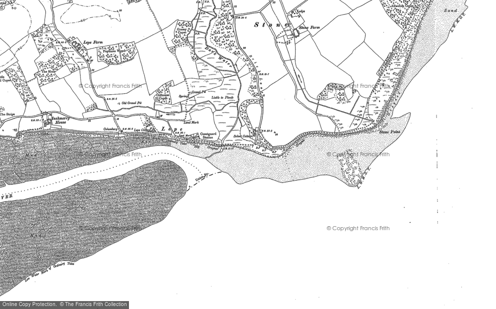 Map of Lepe, 1895