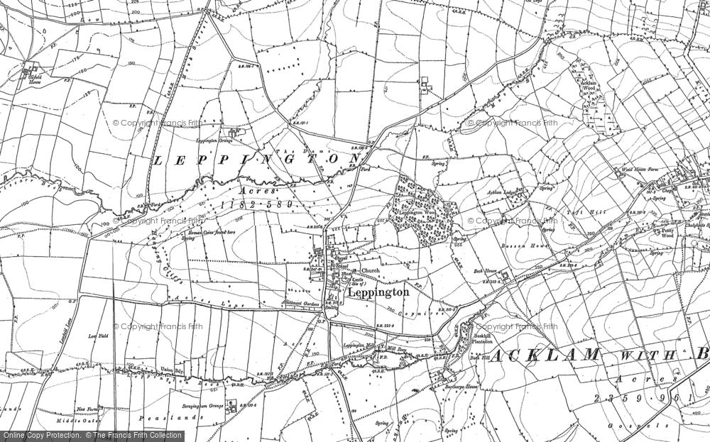 Old Map of Historic Map covering Leppington Beck in 1891