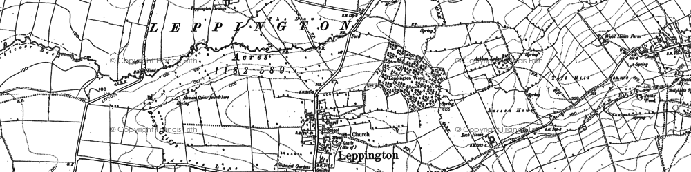 Old map of Leppington Wood in 1891
