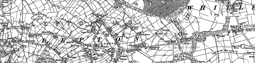 Old map of Lepton in 1888