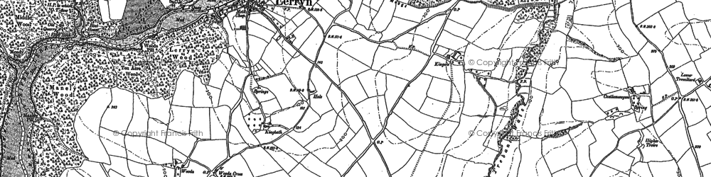 Old map of Collon in 1881