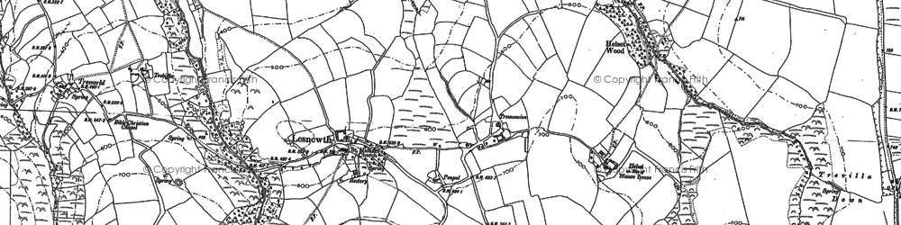 Old map of Lesnewth in 1882